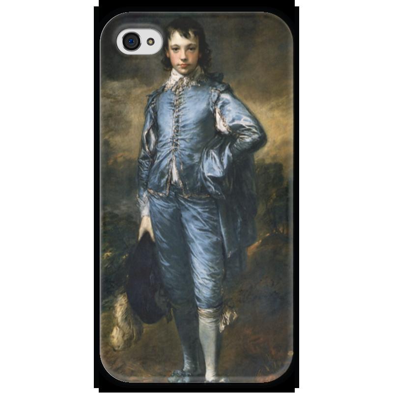 Чехол для iPhone 4 глянцевый, с полной запечаткой Printio Голубой мальчик чехол для iphone 6 глянцевый printio fallout boy