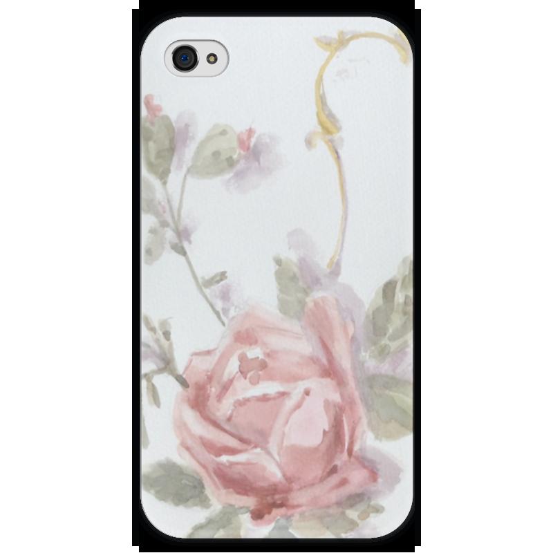 Чехол для iPhone 4 глянцевый, с полной запечаткой Printio Светлая роза чехол для iphone 4 глянцевый с полной запечаткой printio аксессуар для телефона