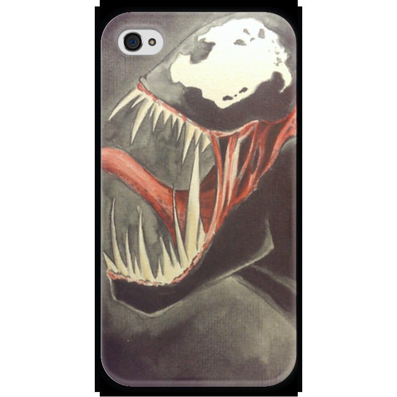 Чехол для iPhone 4 глянцевый, с полной запечаткой Printio Venom чехол для iphone 4 глянцевый с полной запечаткой printio эфиопка