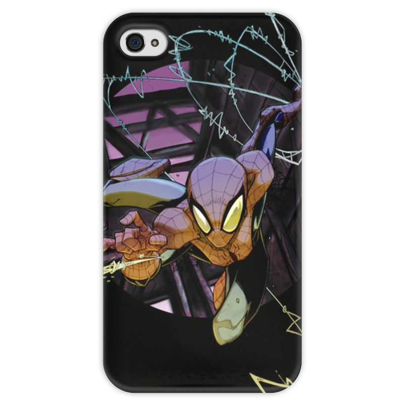Чехол для iPhone 4 глянцевый, с полной запечаткой Printio Человек-паук (spider-man) чехол для iphone 4 глянцевый с полной запечаткой printio эфиопка