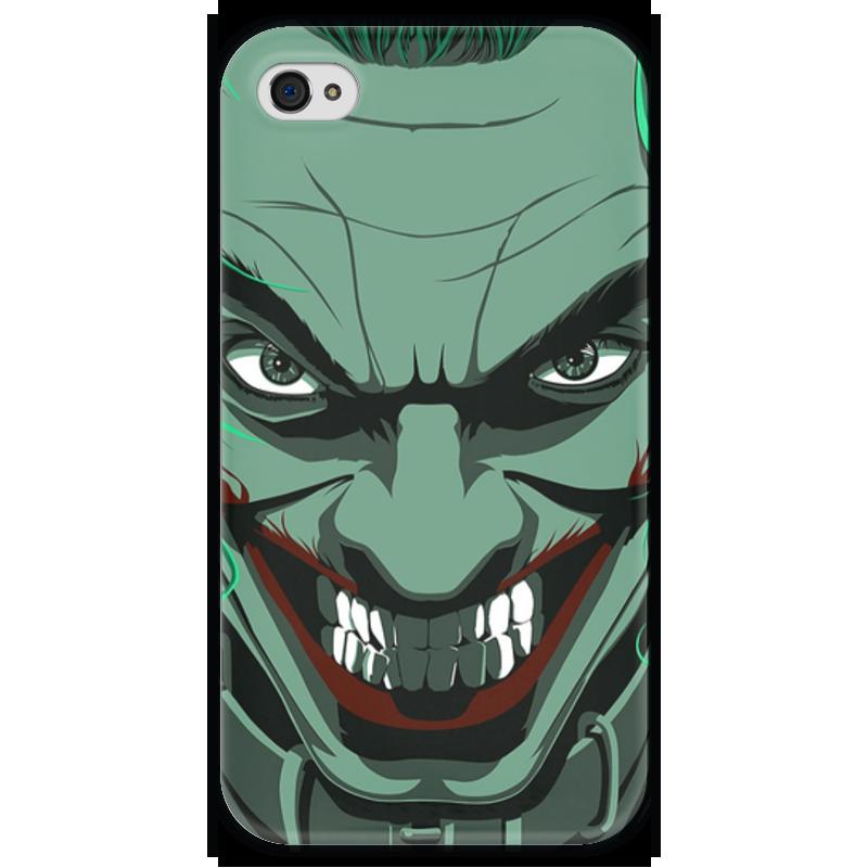 Чехол для iPhone 4 глянцевый, с полной запечаткой Printio Джокер чехол для iphone 4 глянцевый с полной запечаткой printio суарес