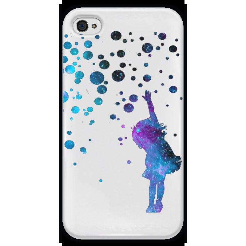 Чехол для iPhone 4 глянцевый, с полной запечаткой Printio Дотянуться до звезд чехол для iphone 4 глянцевый с полной запечаткой printio эфиопка