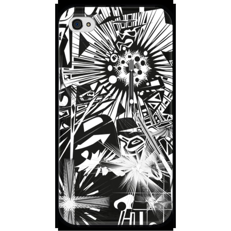 Чехол для iPhone 4 глянцевый, с полной запечаткой Printio С яблоком printio чехол для iphone 4 глянцевый с полной запечаткой