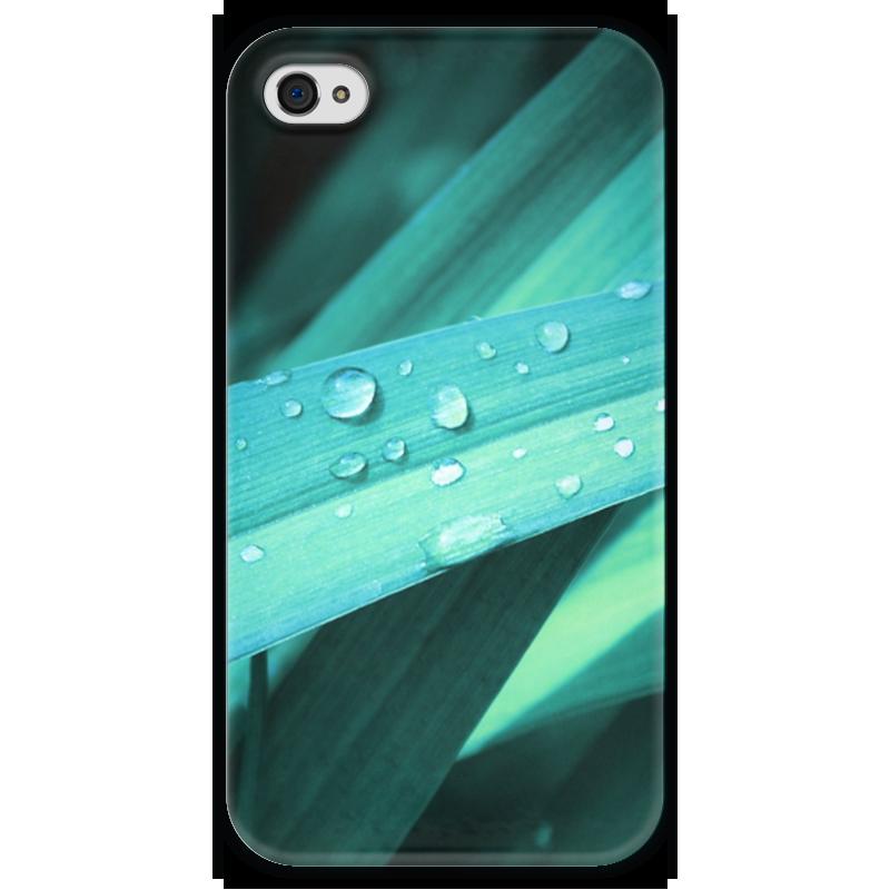 Чехол для iPhone 4 глянцевый, с полной запечаткой Printio Капли чехол для iphone 4 глянцевый с полной запечаткой printio пиво