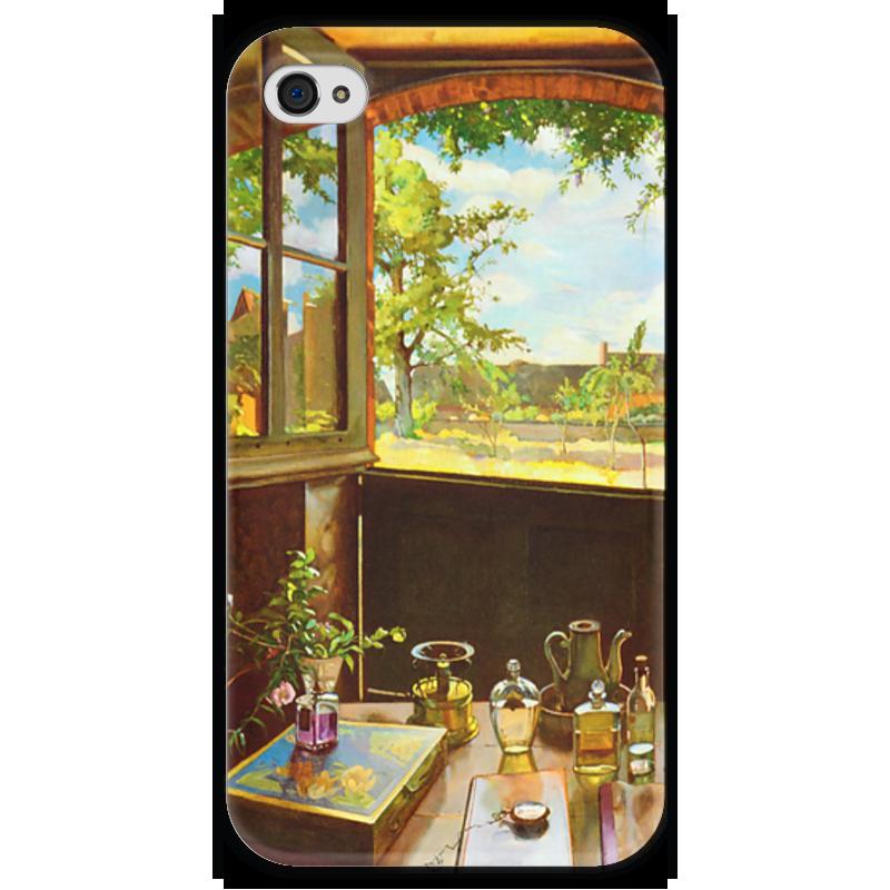 Чехол для iPhone 4 глянцевый, с полной запечаткой Printio Открытая дверь в сад чехол для iphone 6 глянцевый printio бабушкин сад
