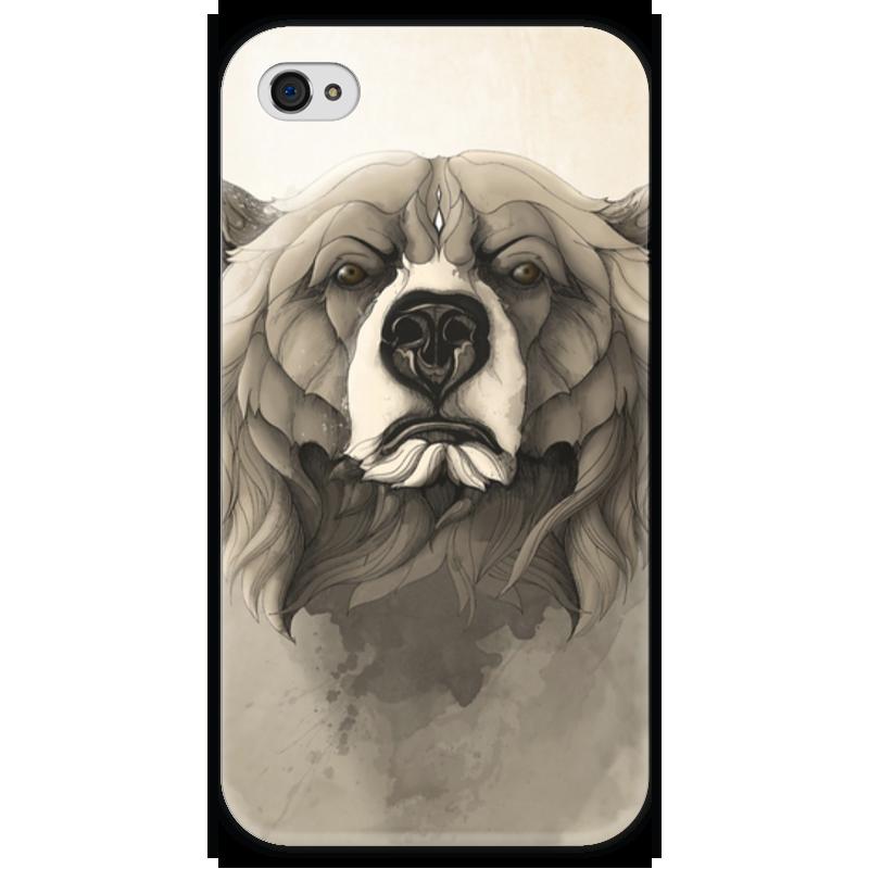 Чехол для iPhone 4 глянцевый, с полной запечаткой Printio Медведь чехол для iphone 4 глянцевый с полной запечаткой printio эфиопка