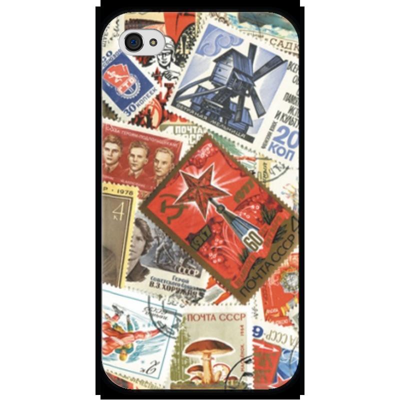 Чехол для iPhone 4 глянцевый, с полной запечаткой Printio Марки ссср чехол для iphone 4 глянцевый с полной запечаткой printio эфиопка