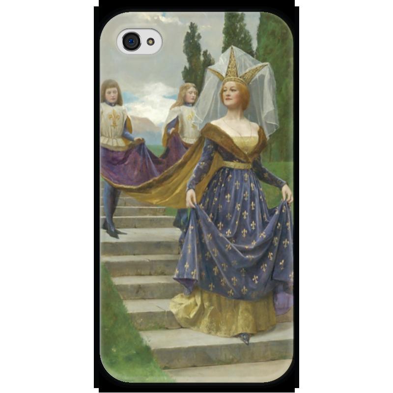 Чехол для iPhone 4 глянцевый, с полной запечаткой Printio Знатная дама (джон кольер)