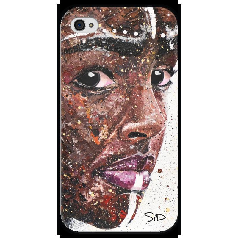 Чехол для iPhone 4 глянцевый, с полной запечаткой Printio Эфиопка чехол для iphone 4 глянцевый с полной запечаткой printio эфиопка