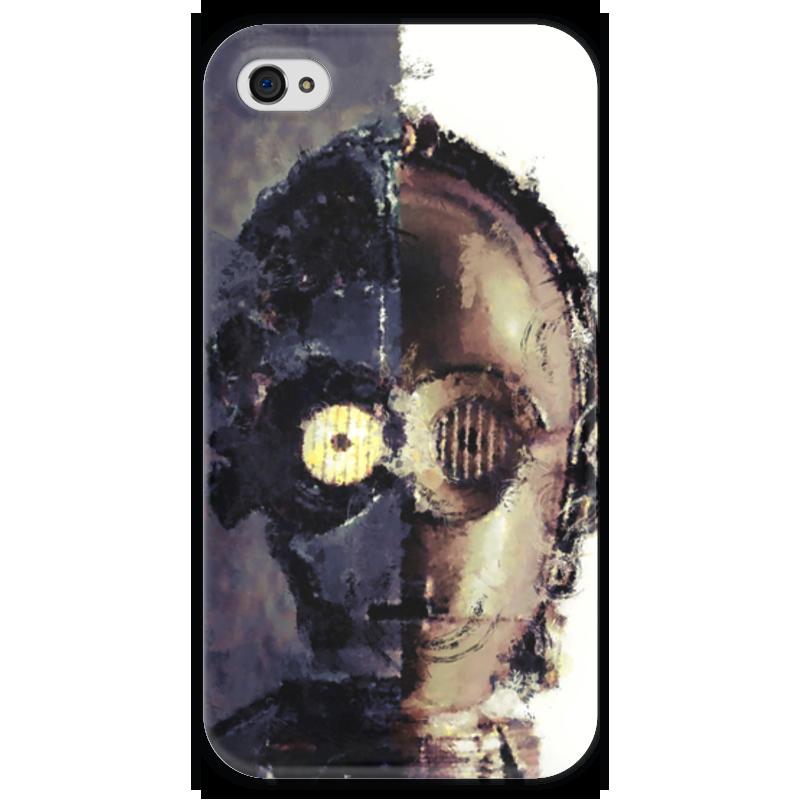 Чехол для iPhone 4 глянцевый, с полной запечаткой Printio C-3po чехол для iphone 4 глянцевый с полной запечаткой printio эфиопка