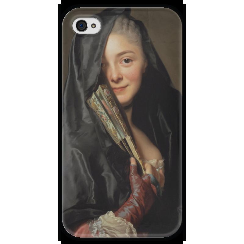Чехол для iPhone 4 глянцевый, с полной запечаткой Printio Дама под вуалью (картина рослина) картины pavone картина дама картина