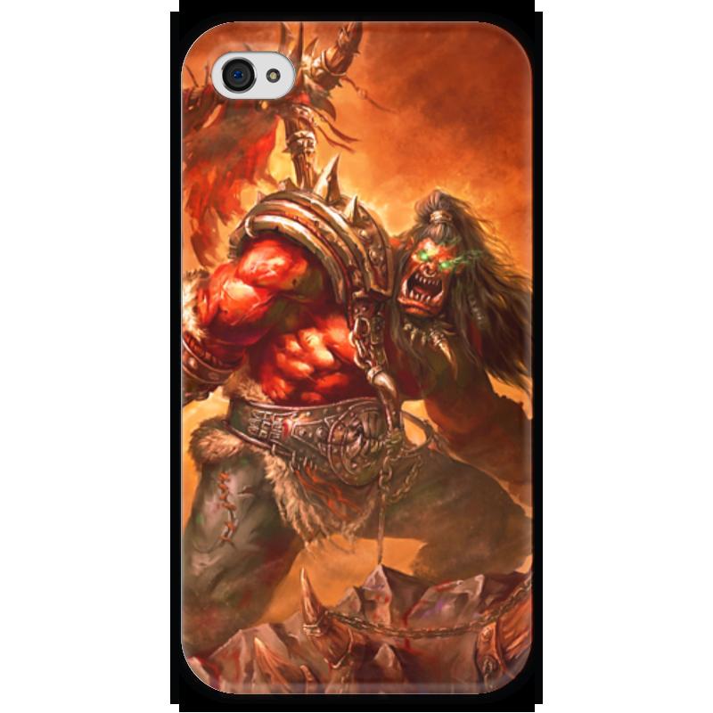 Чехол для iPhone 4 глянцевый, с полной запечаткой Printio Warcraft collection чехол для iphone 4 глянцевый с полной запечаткой printio warcraft collection panda