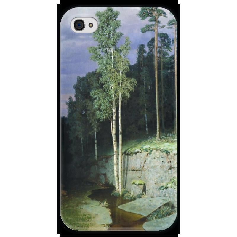 Чехол для iPhone 4 глянцевый, с полной запечаткой Printio На валааме (картина архипа куинджи) чехол для blackberry z10 printio север картина архипа куинджи