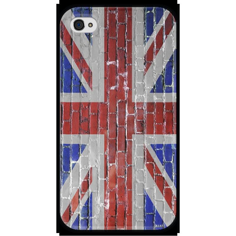 Чехол для iPhone 4 глянцевый, с полной запечаткой Printio Uk flag чехол для iphone 4 глянцевый с полной запечаткой printio эфиопка