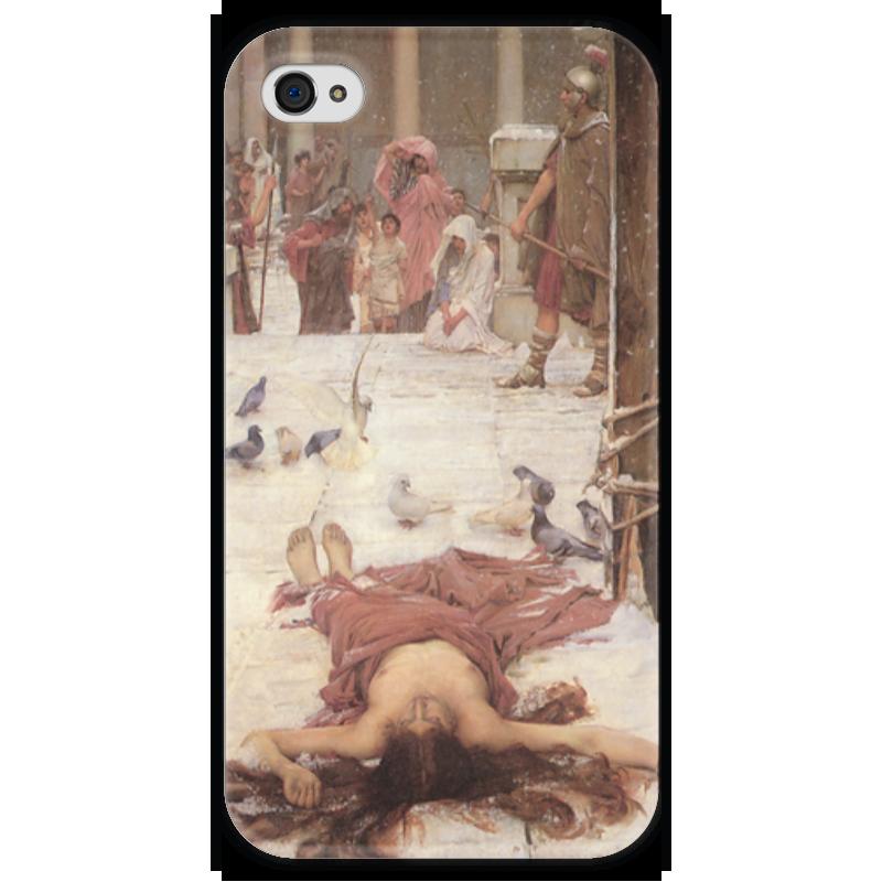 Чехол для iPhone 4 глянцевый, с полной запечаткой Printio Святая евлалия (джон уильям уотерхаус) чехол для iphone 6 глянцевый printio цирцея предлагает чашу улиссу джон уотерхаус