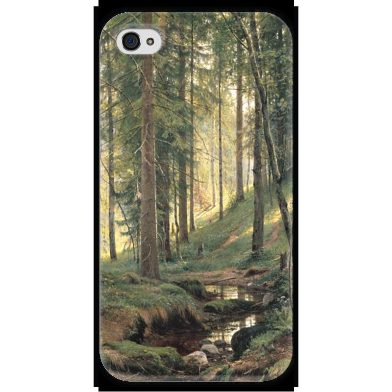 Чехол для iPhone 4 глянцевый, с полной запечаткой Printio Ручей в лесу сумка с полной запечаткой printio лось в лесу