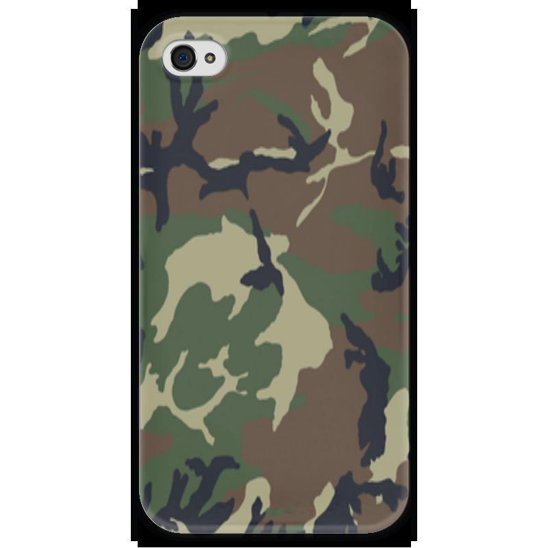 Чехол для iPhone 4 глянцевый, с полной запечаткой Printio Камуфляж чехол для iphone 5 printio камуфляжный чехол