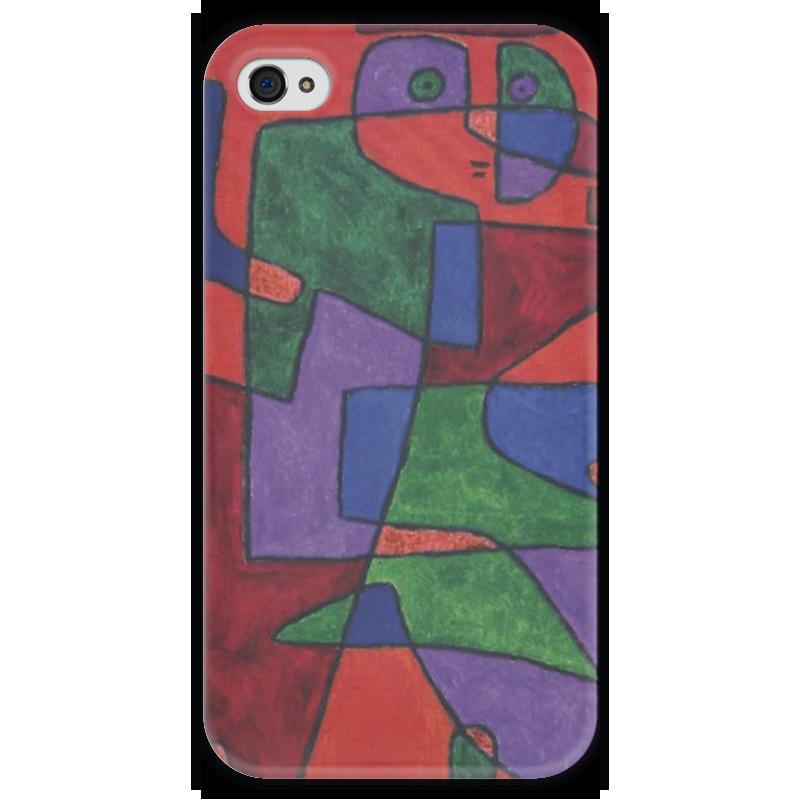 Чехол для iPhone 4 глянцевый, с полной запечаткой Printio Будущее (пауль клее) чехол для iphone 6 глянцевый printio будущее пауль клее