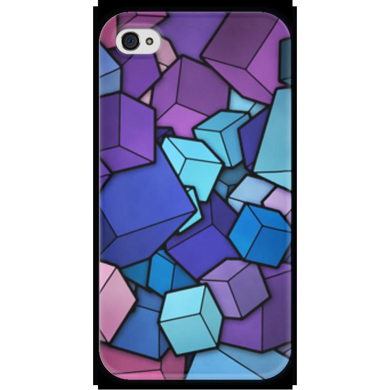 Чехол для iPhone 4 глянцевый, с полной запечаткой Printio Кубический абстракт чехол для iphone 4 глянцевый с полной запечаткой printio эфиопка
