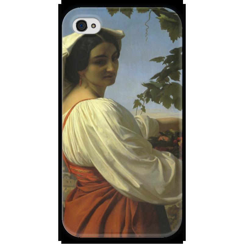 Чехол для iPhone 4 глянцевый, с полной запечаткой Printio Портрет итальянки (la chiarrucia) чехол для iphone 4 глянцевый с полной запечаткой printio портрет лоренцо медичи