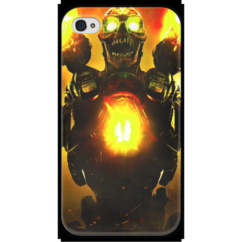 Чехол для iPhone 4 глянцевый, с полной запечаткой Printio Doom 4 printio чехол для iphone 4 глянцевый с полной запечаткой