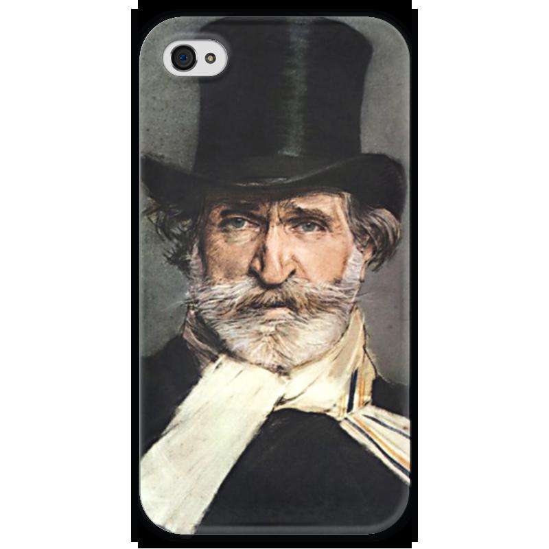 Чехол для iPhone 4 глянцевый, с полной запечаткой Printio Портрет джузеппе верди концерт джузеппе верди известный и неизвестный