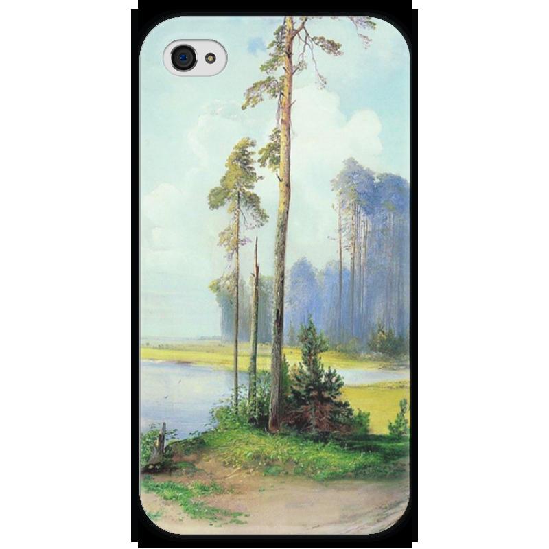 Чехол для iPhone 4 глянцевый, с полной запечаткой Printio Летний пейзаж. сосны. чехол для iphone 4 глянцевый с полной запечаткой printio эфиопка