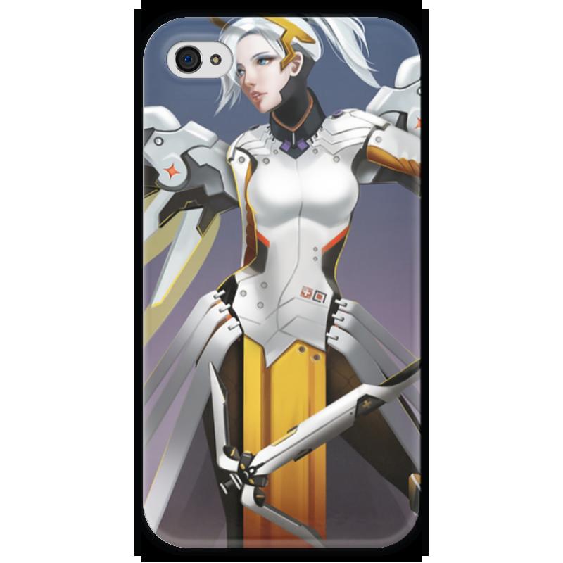 Чехол для iPhone 4 глянцевый, с полной запечаткой Printio Mercy чехол для iphone 4 глянцевый с полной запечаткой printio суарес