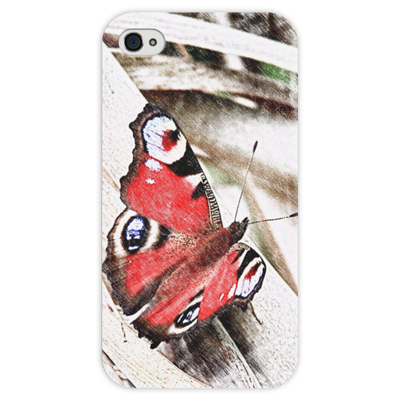 Чехол для iPhone 4 глянцевый, с полной запечаткой Printio Бабочка чехол для iphone 4 глянцевый с полной запечаткой printio пиво