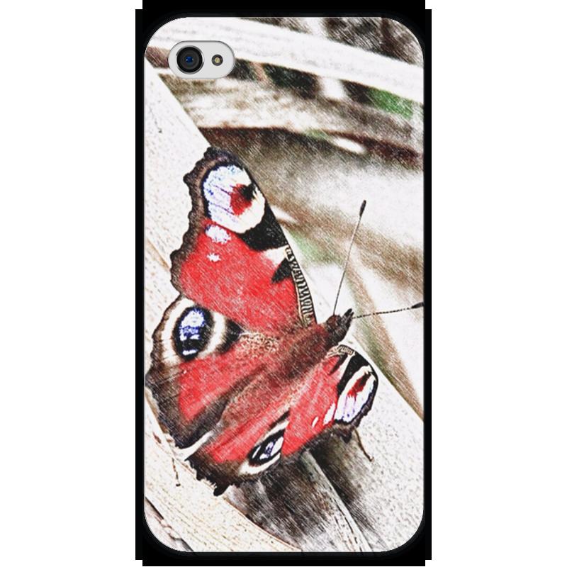 Чехол для iPhone 4 глянцевый, с полной запечаткой Printio Бабочка чехол для iphone 4 глянцевый с полной запечаткой printio supreme