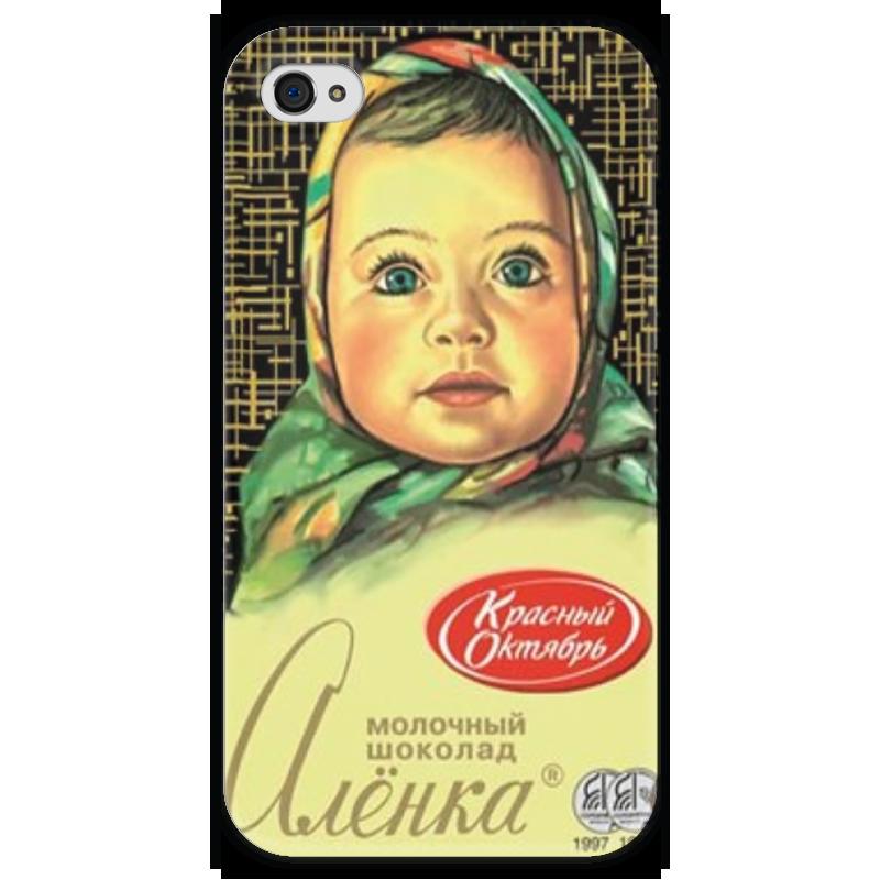 Чехол для iPhone 4 глянцевый, с полной запечаткой Printio Аленка 4 printio чехол для iphone 4 глянцевый с полной запечаткой