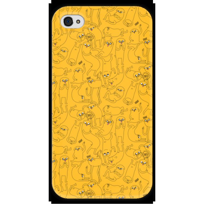 Чехол для iPhone 4 глянцевый, с полной запечаткой Printio джейк пёс. время приключений чехол для iphone 4 глянцевый с полной запечаткой printio эфиопка