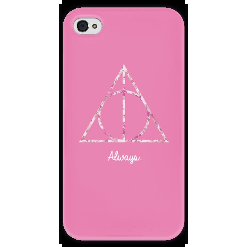 Чехол для iPhone 4 глянцевый, с полной запечаткой Printio Deathly hallows купить чехол для айфона 4 с камнями
