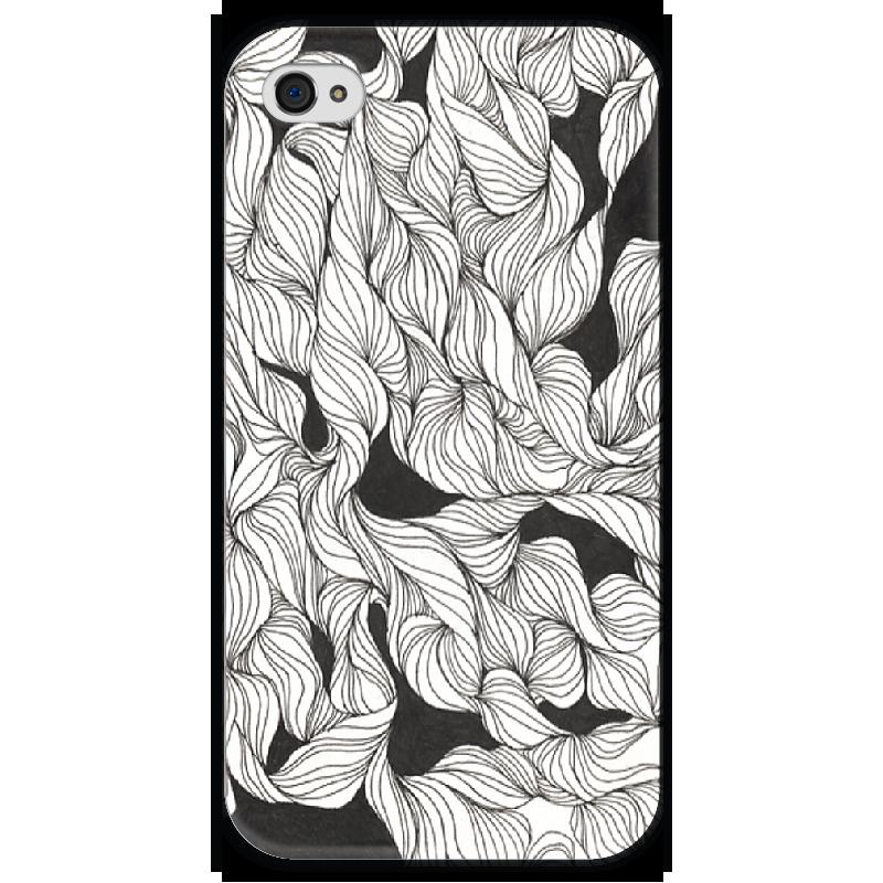 Чехол для iPhone 4 глянцевый, с полной запечаткой Printio Abstract ink pattern чехол для iphone 4 глянцевый с полной запечаткой printio эфиопка