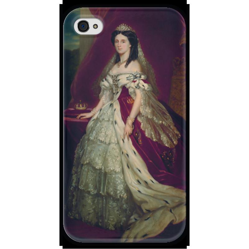 Чехол для iPhone 4 глянцевый, с полной запечаткой Printio Августа (германская императрица) императрица