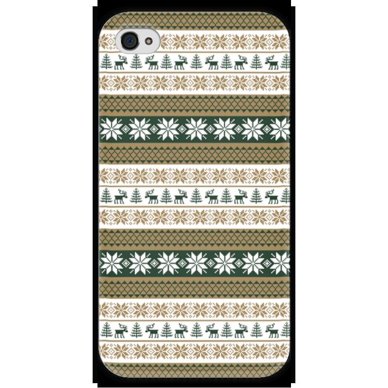 Чехол для iPhone 4 глянцевый, с полной запечаткой Printio Скандинавский узор чехол для iphone 4 глянцевый с полной запечаткой printio эфиопка