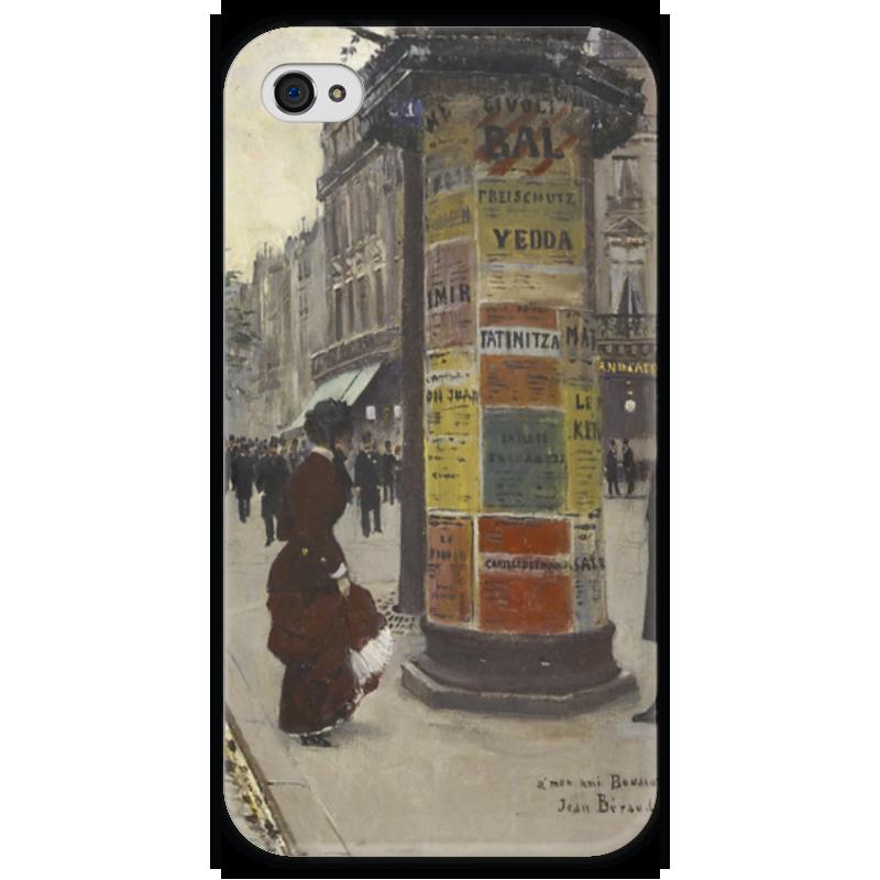 Чехол для iPhone 4 глянцевый, с полной запечаткой Printio Парижский киоск (жан беро) салонный фильтр мазда демио dy3w