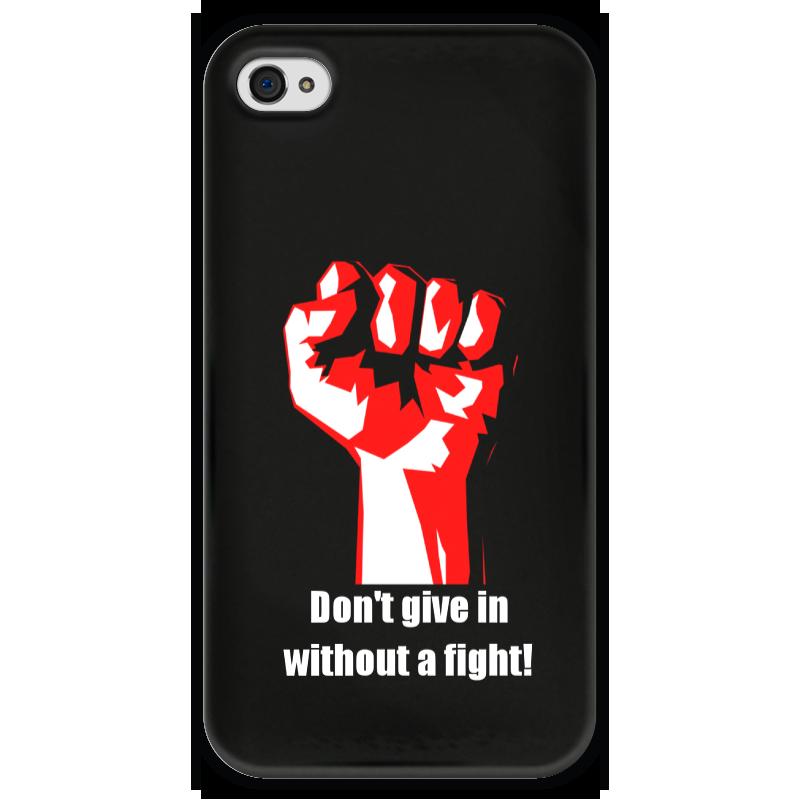 Чехол для iPhone 4 глянцевый, с полной запечаткой Printio Битва. драка. fight. бойцовский клуб свитшот унисекс с полной запечаткой printio битва драка fight бойцовский клуб