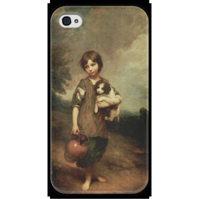 Чехол для iPhone 4 глянцевый, с полной запечаткой Printio Деревенская девочка чехол для iphone 4 глянцевый с полной запечаткой printio эфиопка