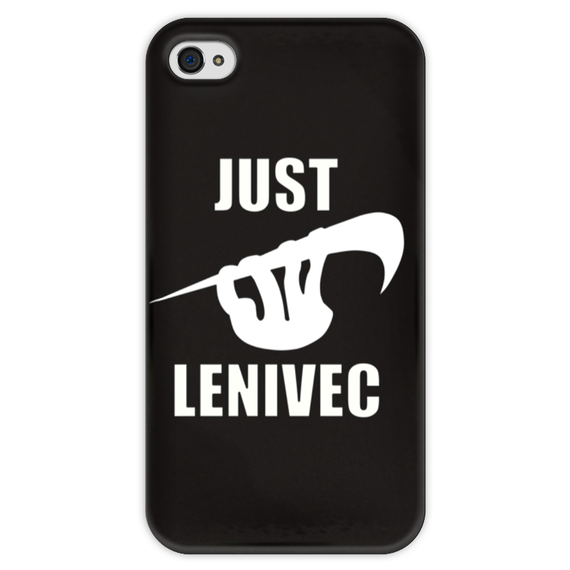 Чехол для iPhone 4 глянцевый, с полной запечаткой Printio Ленивец чехол для iphone 4 глянцевый с полной запечаткой printio челси