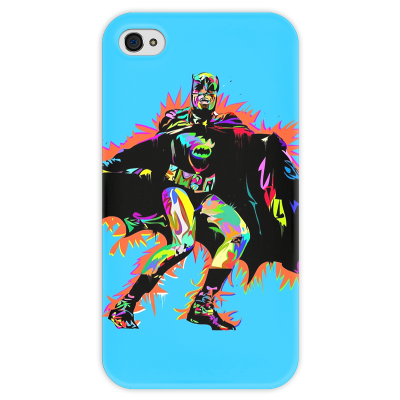 Чехол для iPhone 4 глянцевый, с полной запечаткой Printio Бэтмен чехол для iphone 4 глянцевый с полной запечаткой printio эфиопка