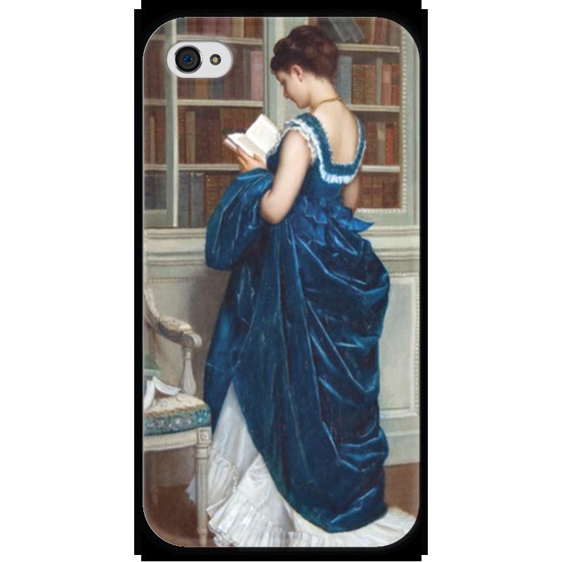 Чехол для iPhone 4 глянцевый, с полной запечаткой Printio Молодая девушка за чтением чехол для iphone 6 глянцевый printio молодая женщина в соломенной шляпе