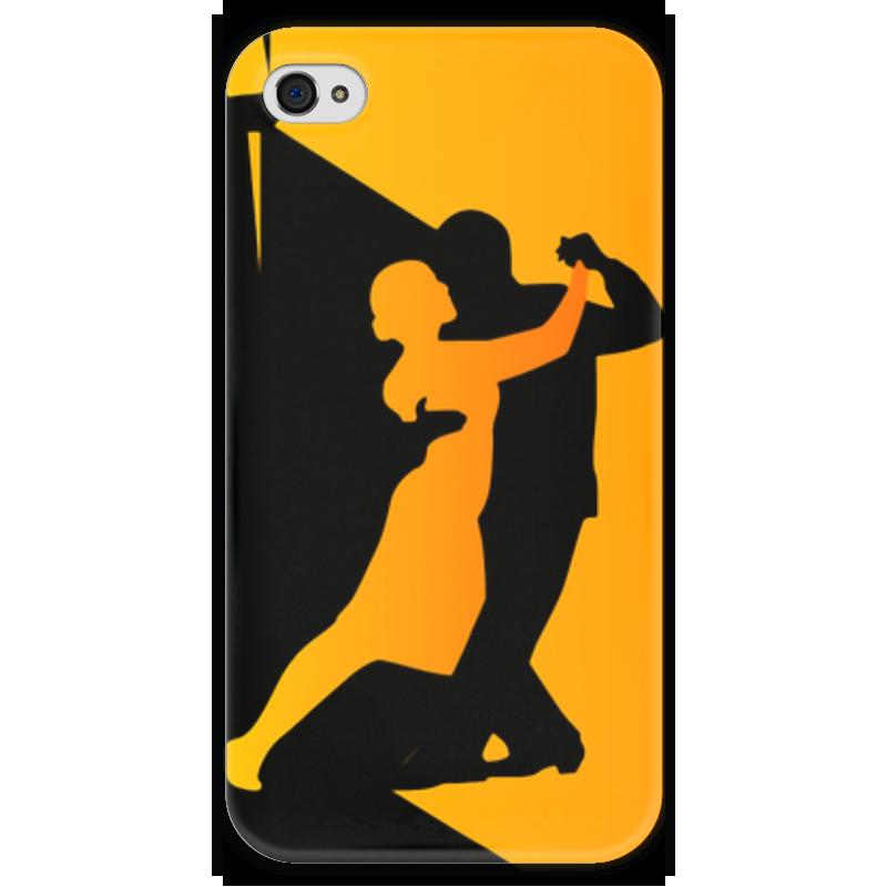 Чехол для iPhone 4 глянцевый, с полной запечаткой Printio Танго в ночи ночи в роданте