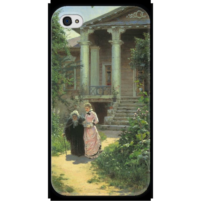 Чехол для iPhone 4 глянцевый, с полной запечаткой Printio Бабушкин сад чехол для iphone 4 глянцевый с полной запечаткой printio фруктовый сад в цвету