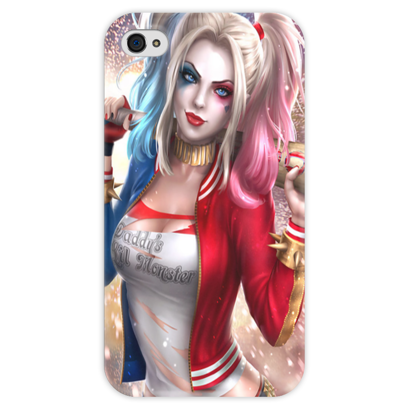 Чехол для iPhone 4 глянцевый, с полной запечаткой Printio Harley quinn чехол для iphone 4 глянцевый с полной запечаткой printio эфиопка