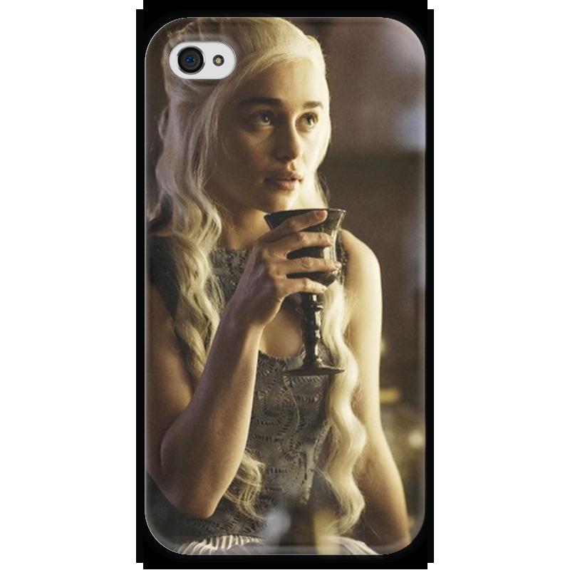 Чехол для iPhone 4 глянцевый, с полной запечаткой Printio Game of thrones