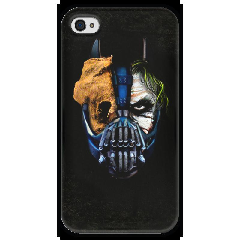 Чехол для iPhone 4 глянцевый, с полной запечаткой Printio Джокер (бэтмен) чехол для iphone 4 глянцевый с полной запечаткой printio эфиопка