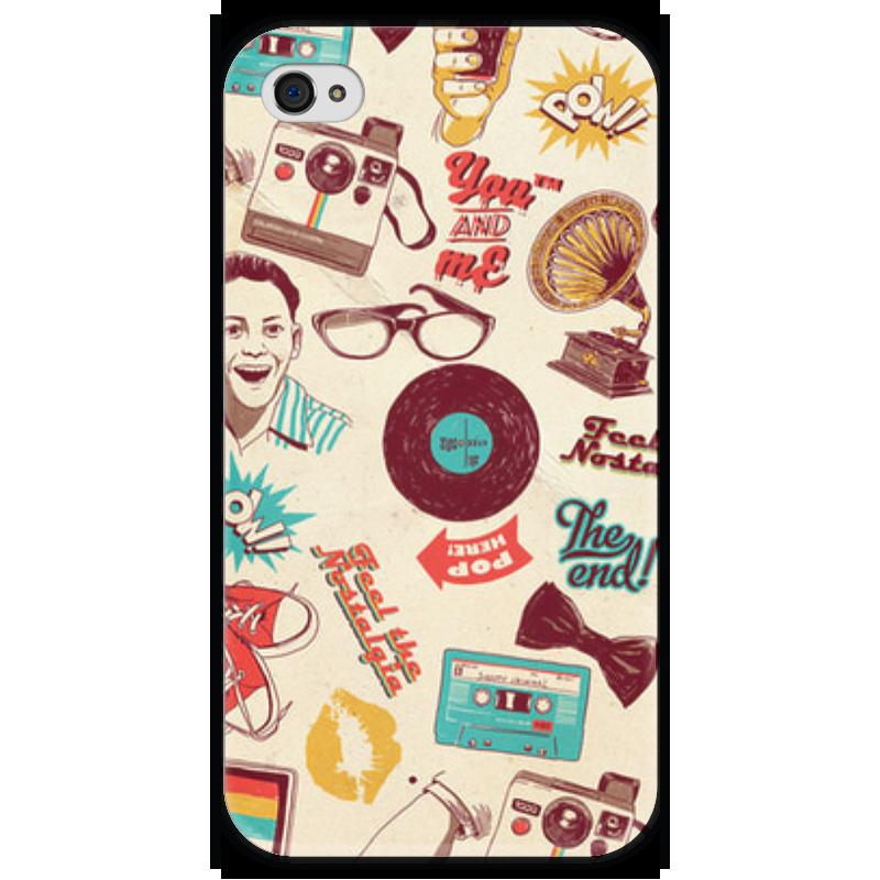 Чехол для iPhone 4 глянцевый, с полной запечаткой Printio Ретро чехол для iphone 4 глянцевый с полной запечаткой printio штурмовик