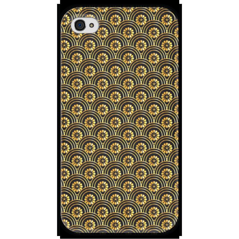 Чехол для iPhone 4 глянцевый, с полной запечаткой Printio Узорный чехол для iphone 6 глянцевый printio узорный