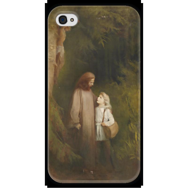 Чехол для iPhone 4 глянцевый, с полной запечаткой Printio Прощание (abschied) чехол для iphone 4 глянцевый с полной запечаткой printio эфиопка